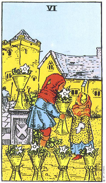 Cards for the Day: The Tower–Reversed!/6 of Cups: Forgive