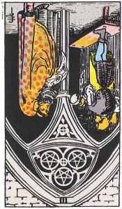Three of Pentacles--Reversed