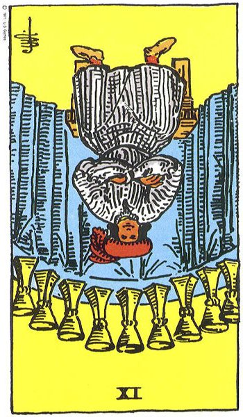 Cards for the Day: The Hierophant/R'd Nine of Cups: The Calm