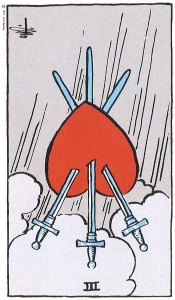 Three of Swords reversed
