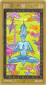 Ten of Swords--Yoga Tarot by Lo Scarabeo