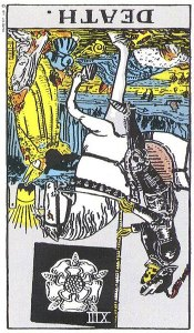 Death reversed--Rider-Waite tarot