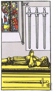 Four of Swords--Rider-Waite tarot