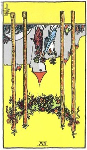 Four of Wands--Reversed!