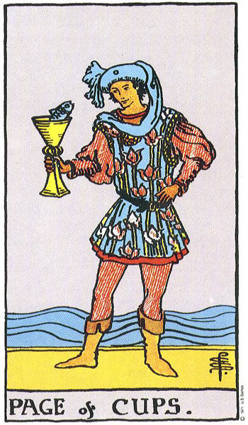Page of Cups--Rider-Waite tarot