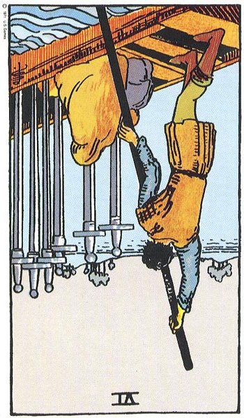 Cards for the Day: R'd 6 of Swords/R'd 5 of Pentacles