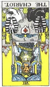 The Chariot reversed--Rider-Waite tarot
