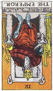 The Emperor, reversed--Rider-Waite tarot