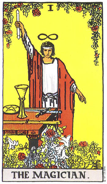 The Magician--Rider-Waite tarot