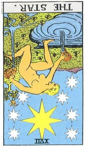 The Star Reversed--Rider-Waite tarot