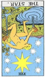 The Star reversed--Rider-Waite tarot