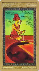 Knave of Pentacles--Yoga Tarot by Lo Scarabeo