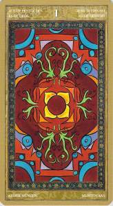 Ace of Pentacles--Yoga Tarot by Lo Scarabeo