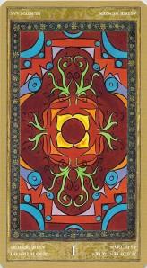 Ace of Pentacles reversed--Yoga Tarot