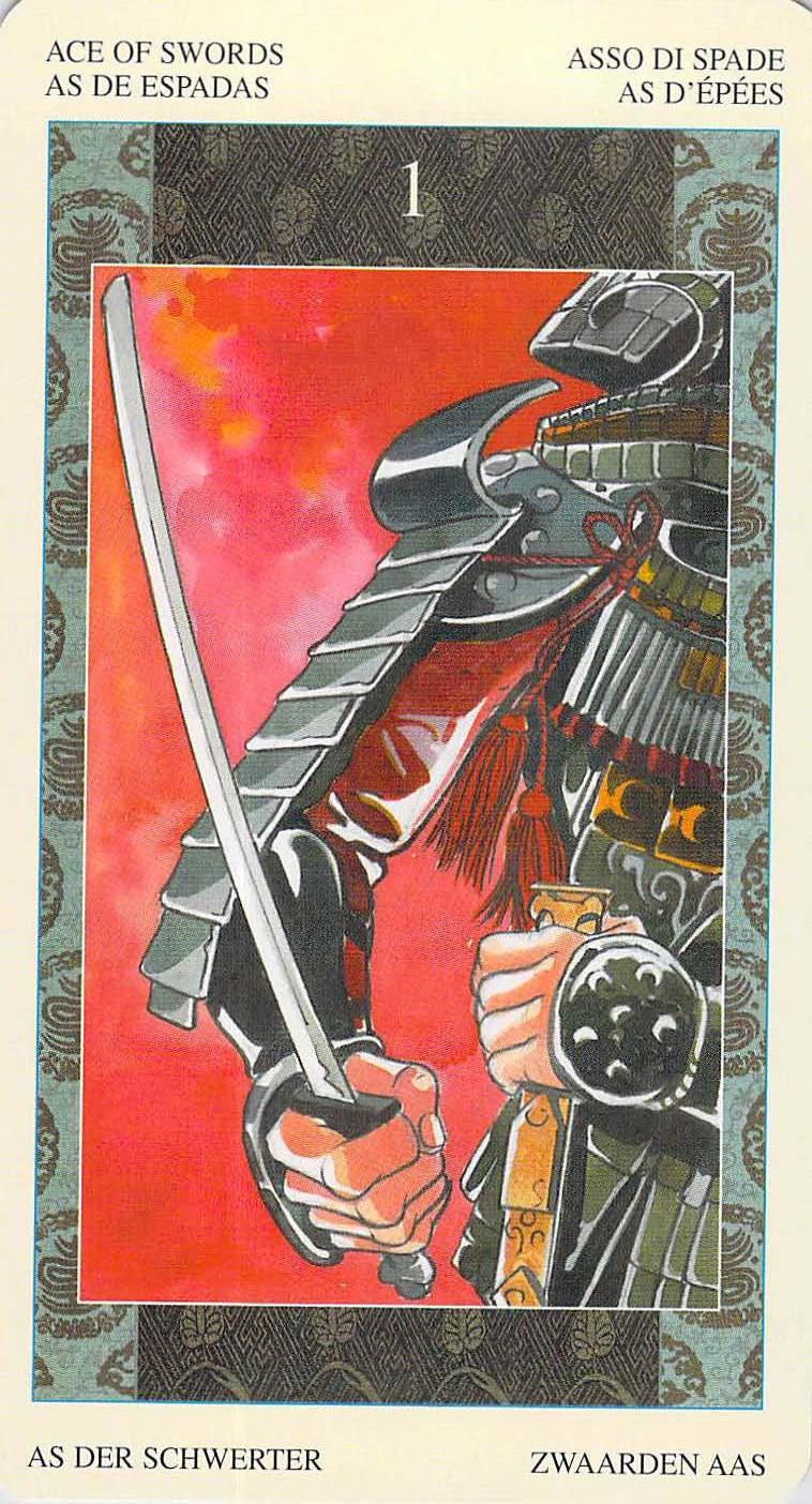 Ace of Swords--Samurai Tarot