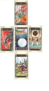 Samurai Tarot--clash at the crossroads spread