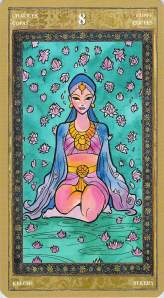 Eight of Chalices--Yoga Tarot by Lo Scarabeo