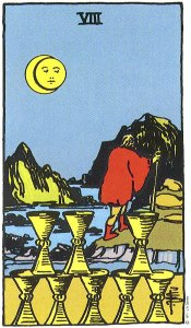 Eight of Cups--Rider-Waite tarot