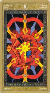 Eight of Pentacles--Yoga Tarot