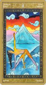 Four of Chalices--Yoga Tarot