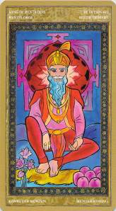 King of Pentacles--Yoga Tarot by Lo Scarabeo
