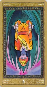 Nine of Chalices reversed--Yoga Tarot