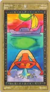 Nine of Pentacles--Yoga Tarot
