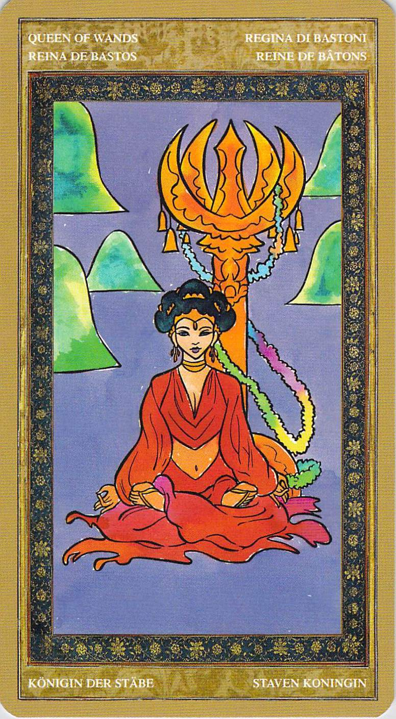 Queen of Wands--Yoga Tarot
