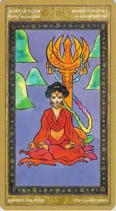 Queen of Wands--Yoga Tarot