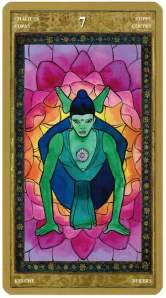Seven of Chalices--Yoga Tarot by Lo Scarabeo