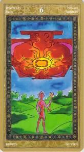 Six of Pentacles--Yoga Tarot