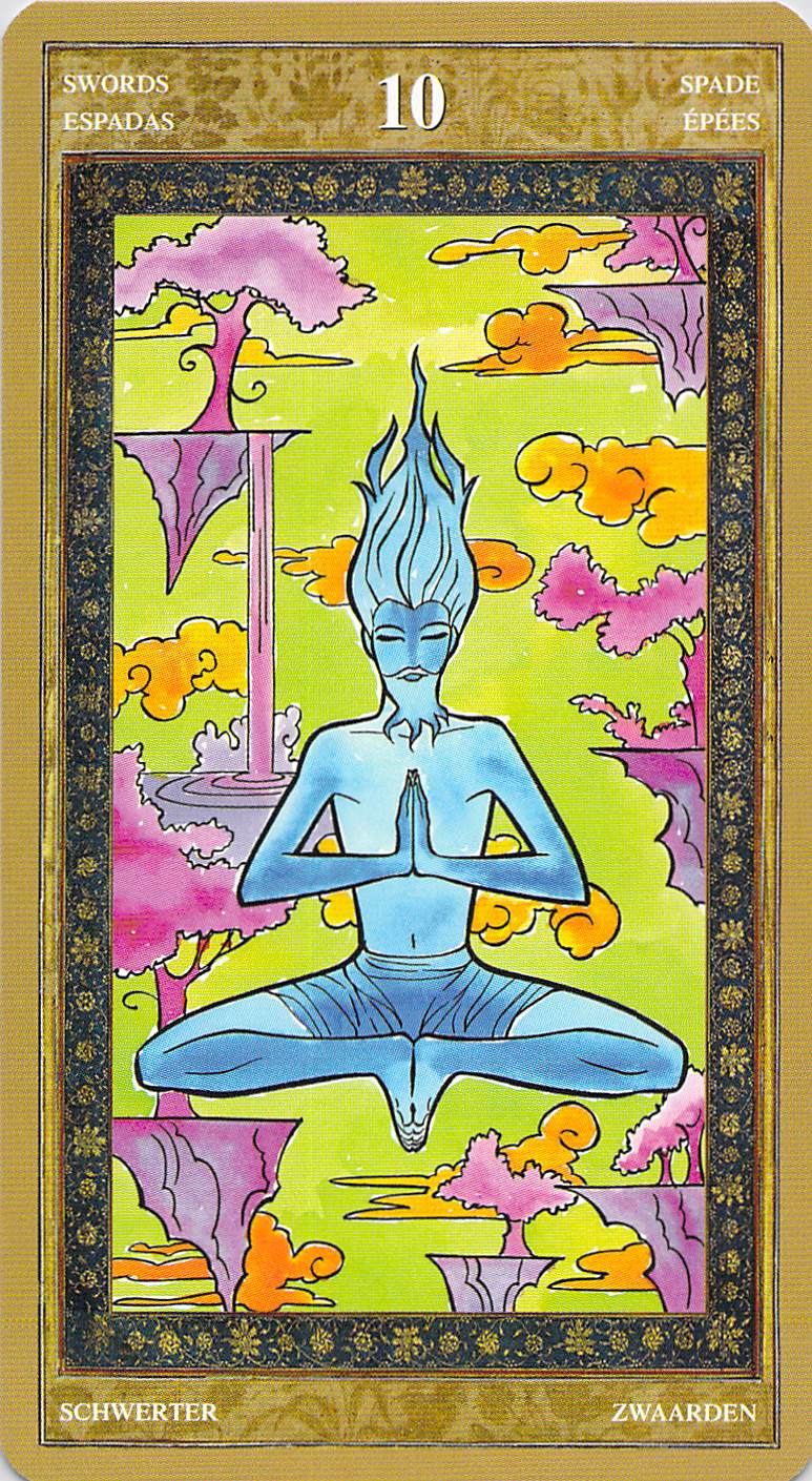 Ten of Swords--Yoga Tarot