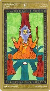 The Hierophant--Yoga Tarot