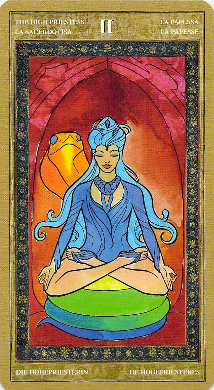 The High Priestess--Yoga Tarot