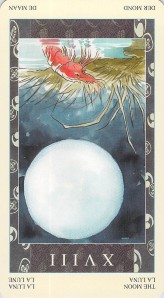 The Moon reversed--Samurai Tarot