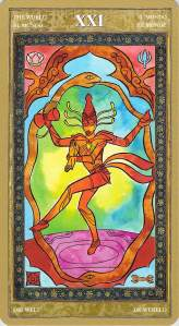 The World--Yoga Tarot by Lo Scarabeo