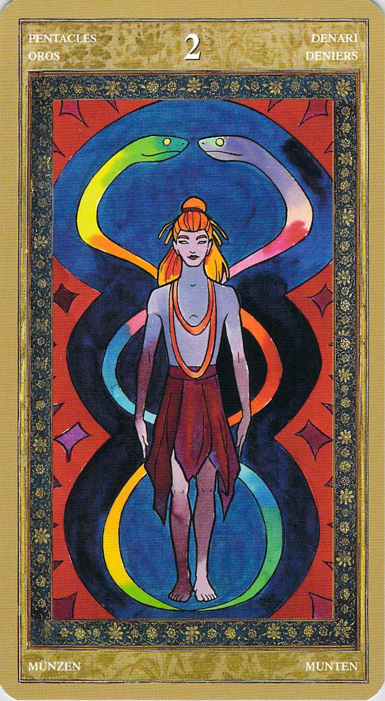 Two of Pentacles--Yoga Tarot