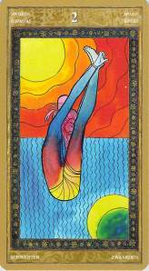 Two of Swords--Yoga Tarot