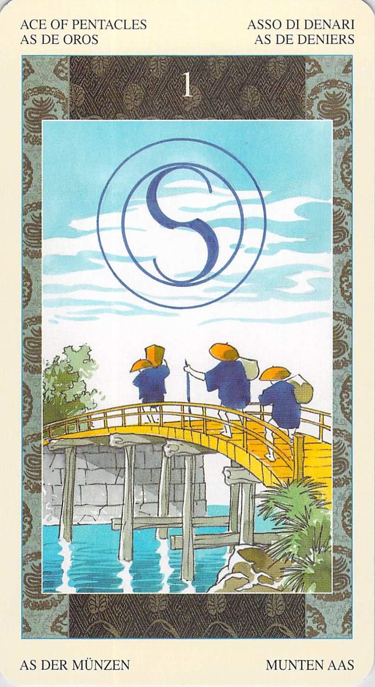 Ace of Pentacles--Samurai Tarot