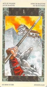 Ace of Wands--Samurai Tarot