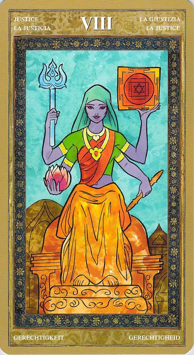 Justice--Yoga Tarot
