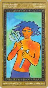 Knave of Swords--Yoga Tarot