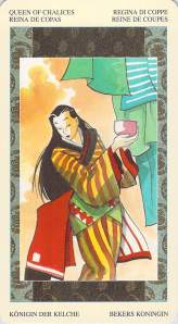 Queen of Chalices--Ono no Komachi--Samurai Tarot