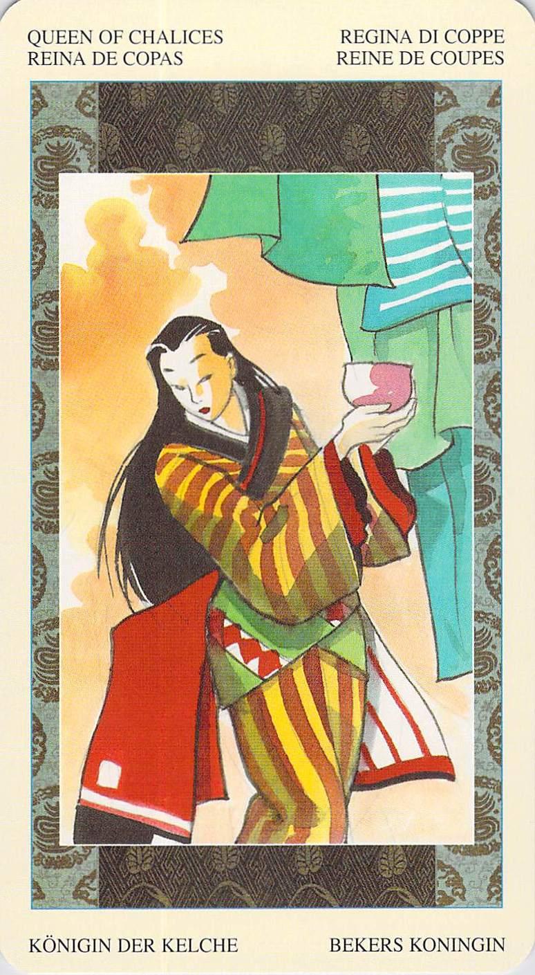 Queen of Chalices--Ono no Komachi--Samurai Tarot