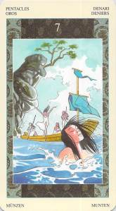 Seven of Pentacles--Samurai Tarot