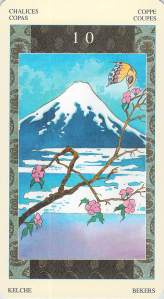 Ten of Chalices--Samurai Tarot