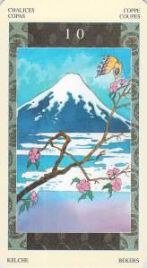 Ten of Chalices--Samurai Tarot
