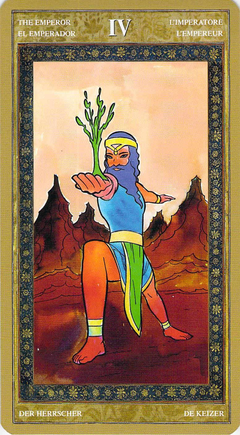 The Emperor--Yoga Tarot