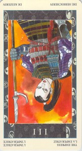 The Empress reversed--Samurai Tarot