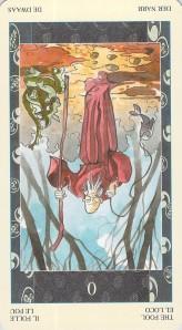 The Fool reversed--Samurai Tarot